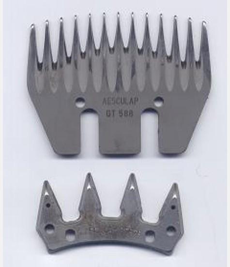 Coppia di pettini Aesculap per ovini GT 578/588