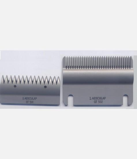 Coppia pettini Aesculap GT 501 superiore 15 denti / GT 502 inferiore 31 denti