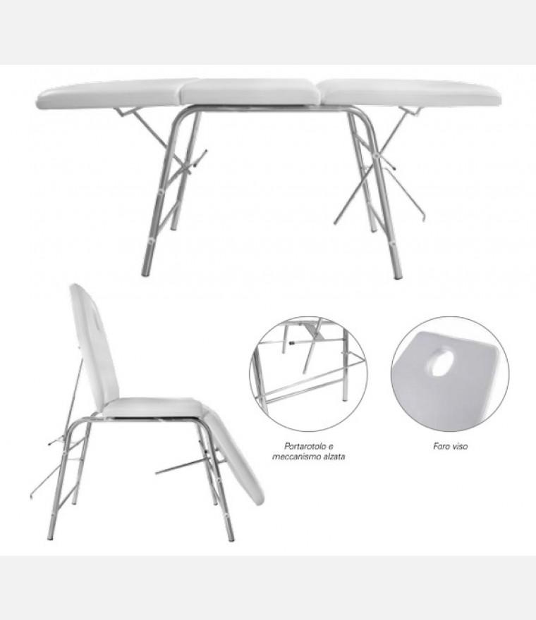 Lettino poltrona pieghevole in alluminio ideale per for Lettino per estetista pieghevole