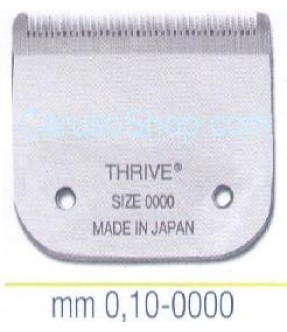 PETTINE - TESTINA PER TOSATRICE THRIVE 0.10 MM SIZE 0000
