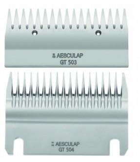 Coppia pettini Aesculap GT 503 superiore 17 denti / GT 504 inferiore 18 denti