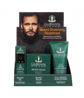 CLUBMAN BEARD GROOMMING REDEFINED - ESPOSITORE 9 PZ