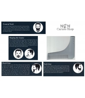 PETTINE DA BARBA CURVO PROFESSIONALE THE PROFESSIONAL BEARD SHAPER