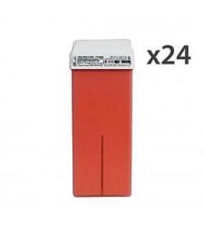 CERA EPILAZIONE ROIAL LIPOSOLUBILE RULLO 100 ML TITANIO ROSA  24 PZ